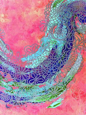 Abstract Mixed Media - Bubblegum Dreams by Betsy Jones