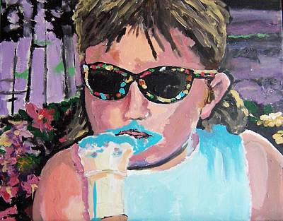 Art Print featuring the painting Bubblegum Ice Cream by Krista Ouellette