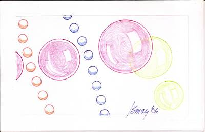 Drawing - Bubbles And Orbs by Rod Ismay