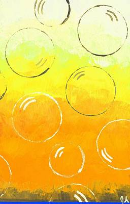 Painting - Bubbles Of Soap In Sunlight by Jeremy Aiyadurai