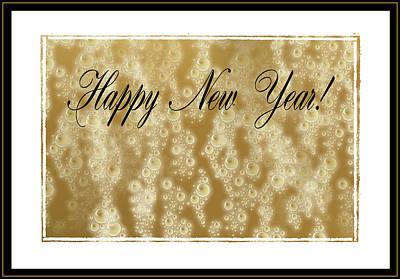 Bubbly New Year Art Print
