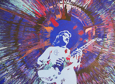 Blue Oyster Cult Painting - Buck Dharma by Lance Bifoss