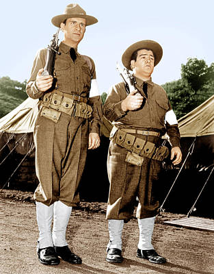 Incol Photograph - Buck Privates, From Left Bud Abbott by Everett