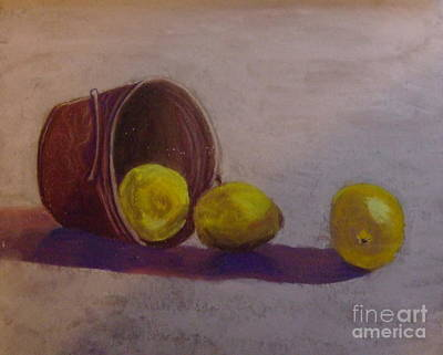 Pastel - Bucket Of Lemons by Calliope Thomas