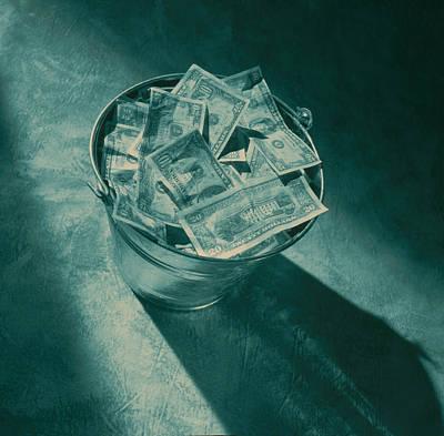 Buckets Of Money Art Print by Penny Cash