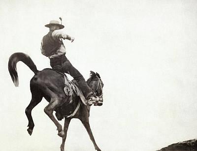 Photograph - Bucking Bronco, C1888 by Granger