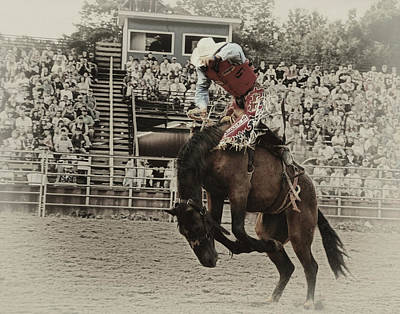 Photograph - Bucking Bronco by Peg Runyan
