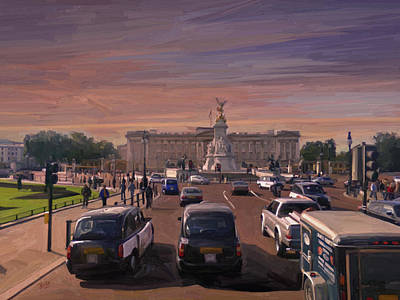 Briex Painting - Buckingham Palace by Nop Briex