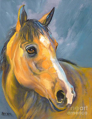 Painting - Buckskin Sport Horse by Susan A Becker