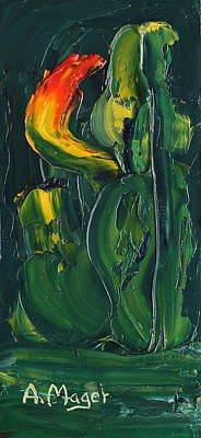 Painting - Bud by Alan Mager