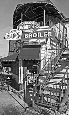 Photograph - Bud'd Broiler New Orleans-bw by Kathleen K Parker