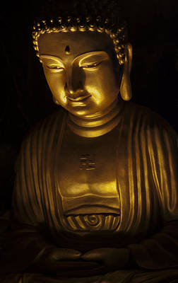 Photograph - Buddha - Oil Painting Effect by Zoe Ferrie