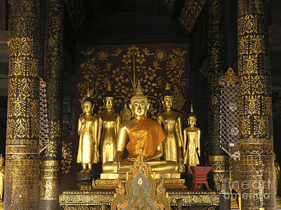 Buddha And His Disciples Art Print