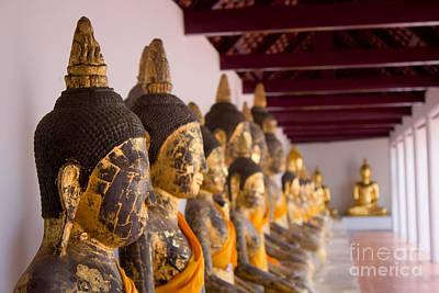 Buddha Culptures Art Print by Asaha Ruangpanupan