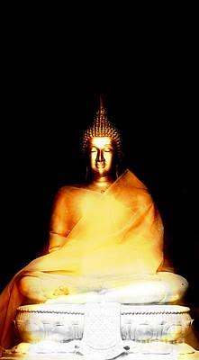 Buddha Glow In The Dark Print by Pdamatic Foto