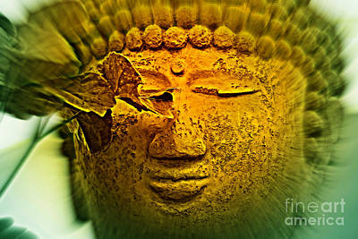Statue Portrait Photograph - Buddha In Deep Meditation by Susanne Van Hulst