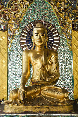 Photograph - Buddha In Glass by Michele Burgess
