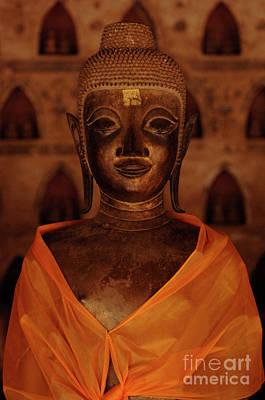 Buddha In Orange Art Print by Bob Christopher