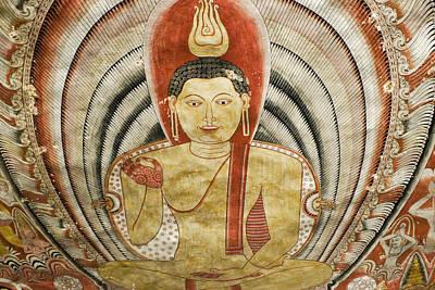Photograph - Buddha Painting In Sri Lanka by Michele Burgess