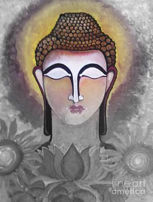 Painting - Buddha by Rekha Artz