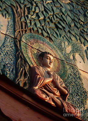 Bodhi Tree Photograph - Buddha Relief by Angela Wright
