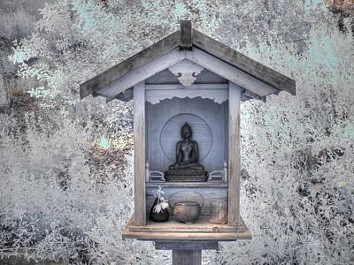 Infared Photograph - Buddha Shrine by Jane Linders