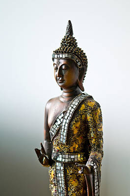 Photograph - Buddha Statue With A Golden Robe by Ulrich Schade