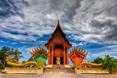 Naga Photograph - Buddha Temple by Adrian Evans