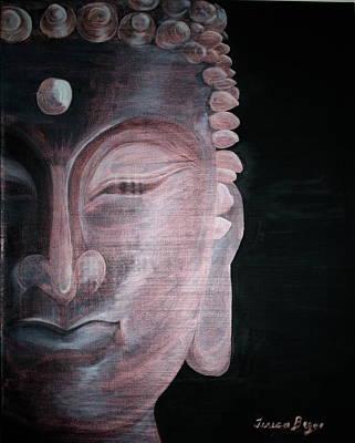 Art Print featuring the painting Buddha by Teresa Beyer