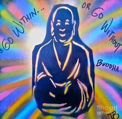 First Amendment Painting - Buddha by Tony B Conscious