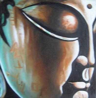 Buddha Art Print by Usha Rai