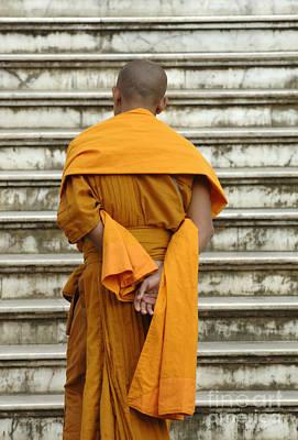 Buddhist Monk 2 Art Print by Bob Christopher