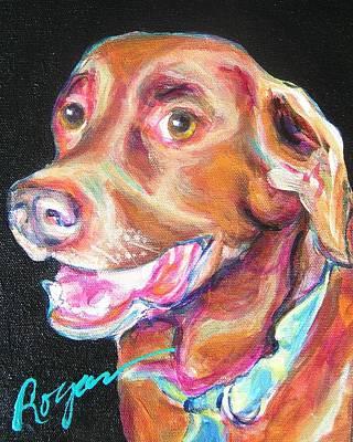 Chocolate Labrador Retriever Painting - Buddy by Judy  Rogan
