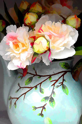 Buds In Vase Art Print