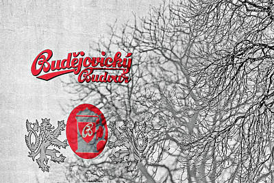 Logos Photograph - Budweis Czech Republic - 700 Years Of Brewing Tradition by Christine Till