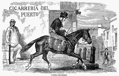 Buenos Aires: Milkman, 1858 Art Print by Granger