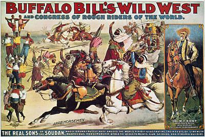 Buffalo Bill: Poster, 1899 Art Print by Granger
