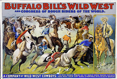 Buffalo Bill's Wild West Art Print by Charles Shoup