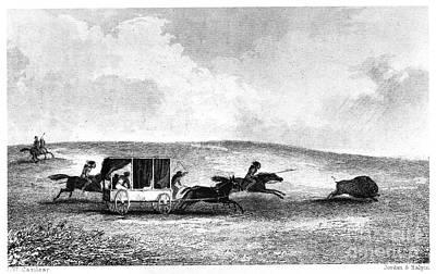 Hudson River School Photograph - Buffalo Hunt, 1841 by Granger