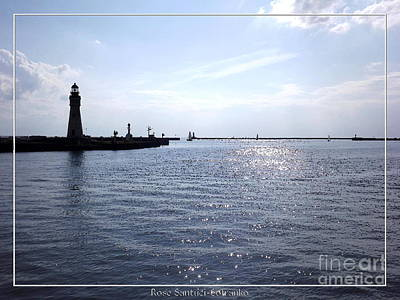 Photograph - Buffalo Main Lighthouse And Buffalo Harbor by Rose Santuci-Sofranko