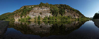 Photograph - Buffalo River Bend Panorama by Joshua House