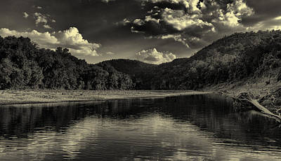 Photograph - Buffalo River In Black And White by Joshua House