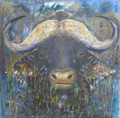 Painting - Buffalo by Samuel Daffa