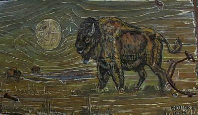 Painting - Buffalo Wallow by Phyllis Mae Richardson Fisher