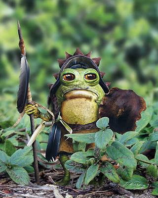 Goblin Digital Art - Bufo Warrior Goblin by Bill Fleming