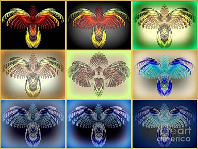 Bug Digital Art - Bug-collection by Klara Acel