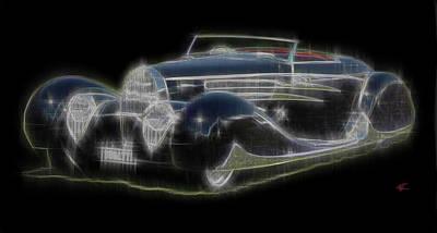 Digital Art - Bugatti by Kenneth Armand Johnson
