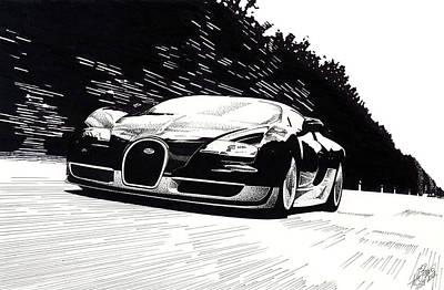 Bugatti Speed Art Print by Lyle Brown