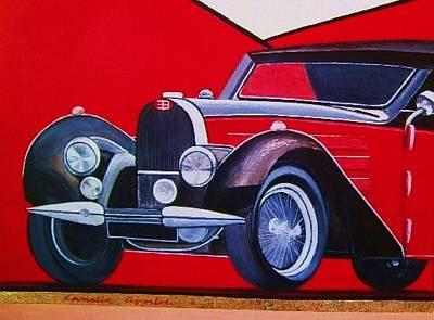Car Painting - Bugatti Type 57 by Camelia Apostol