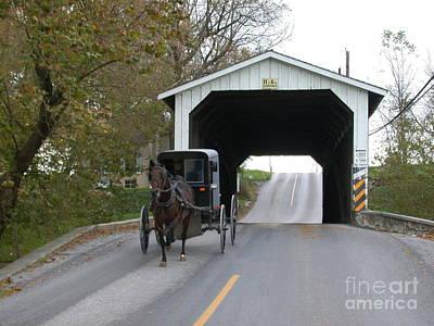 Buggy On Bridge Art Print by Tim Mulina